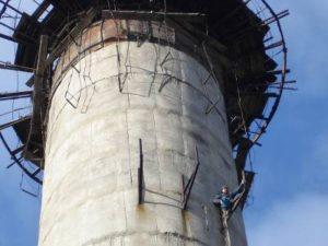 ремонт железобетонной дымовой трубы в Долгопрудном